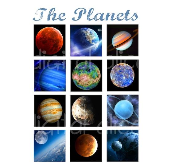LA hoja de digital collage de planetas, campo estrella del planeta ...