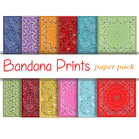 image regarding Printable Patterned Paper titled BANDANA PRINT PAPERS - printable patterned paper backgrounds for crafts, images, Wallpaper, cowboy, Occasion, birthday- 12 Papers