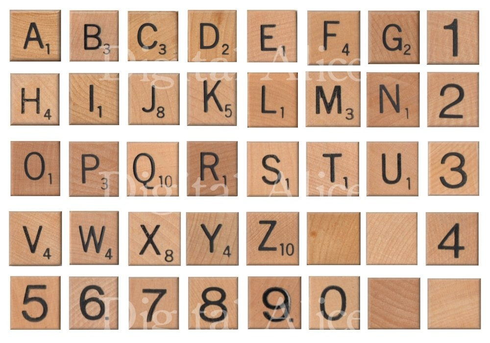 photo regarding Scrabble Letters Printable referred to as Common SCRABBLE LETTERS - Immediate Down load Electronic Printable- 1 inch- Do-it-yourself Print as quite a few as by yourself which include