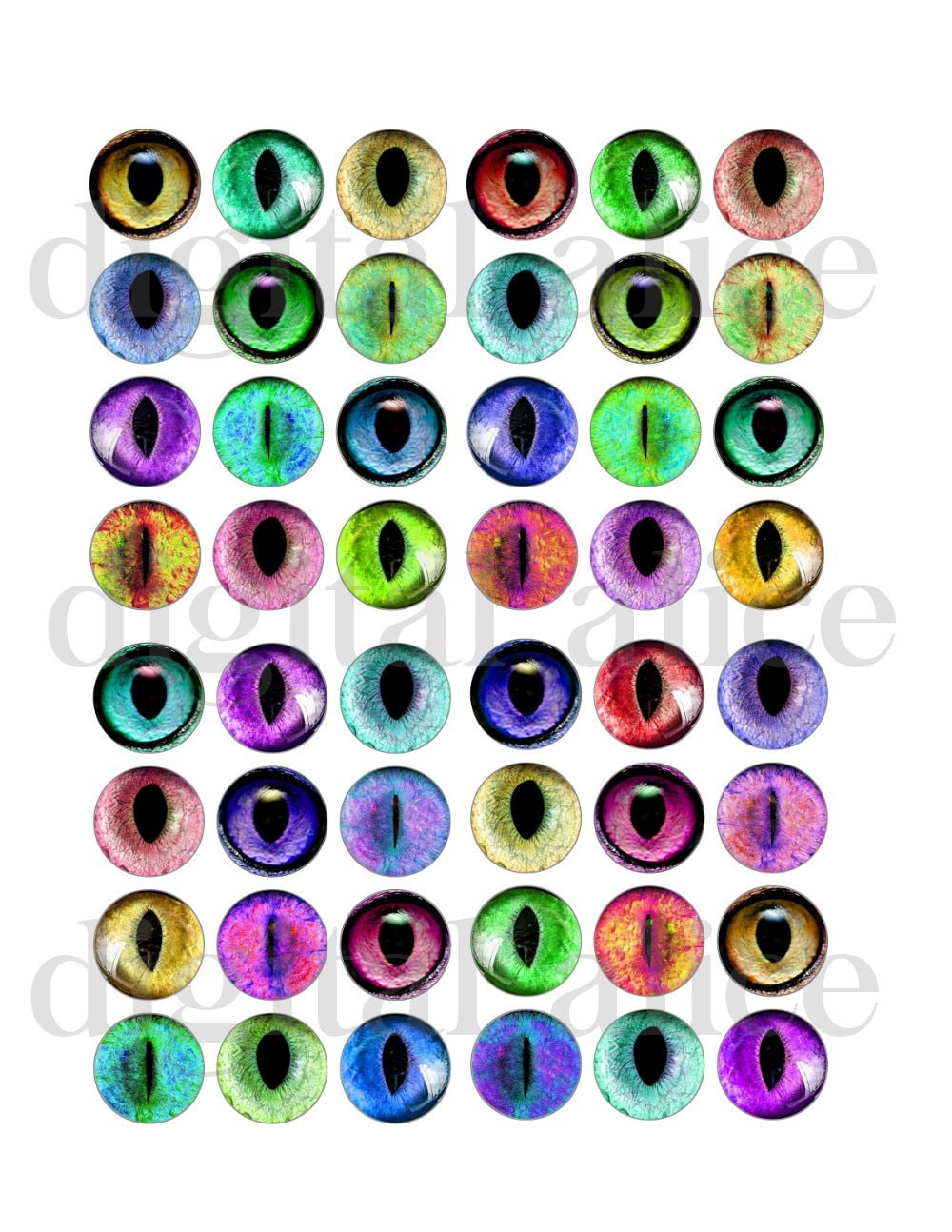 photo about Eyes Printable referred to as CAT EYES Printable Craft Circles - Cats Eye, Animal Eye Visuals - Immediate Down load Electronic Printable Bottlecaps, Jewellery,Paper Crafts