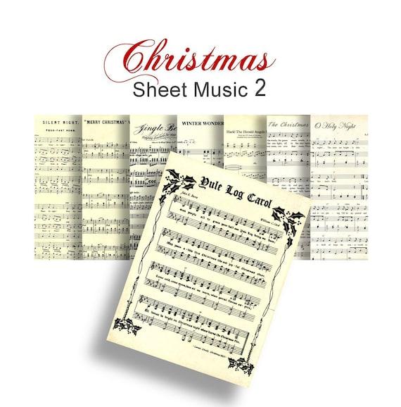 christmas carols printable sheet music no 2 8 digital songs etsy
