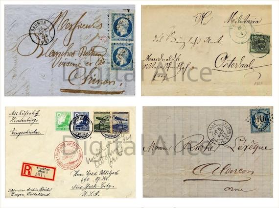 Antica lettere buste schede stampabili atc più di germania etsy