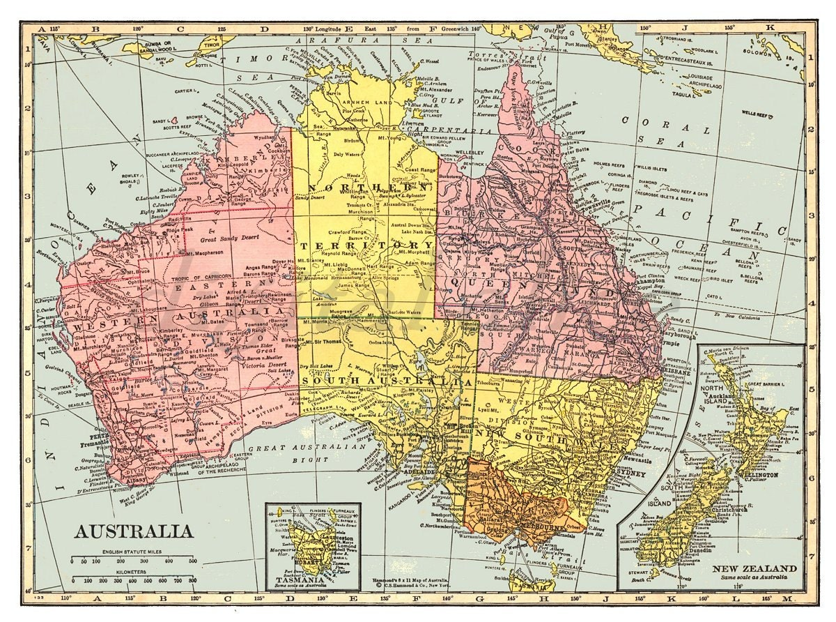 This is a photo of Satisfactory Printable Australia Map