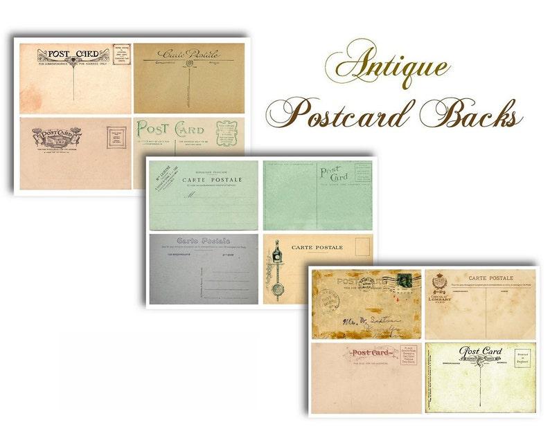 scrapbooking price tags stamped Antique Botanical Postcards- 3 sizes labels VINTAGE LILAC POSTCARDS gift tags cards Digital Download