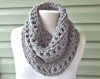 Chunky Infinity Cowl (Koko), Large Cowl, Crochet Knit -- Made to Order