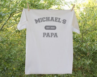 Grandpa Established In Personalized Shirt - Father's Day Shirt
