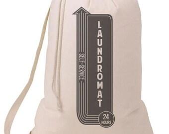 Grad Gift Laundromat Self Service Laundry Bag, Humorous Laundry Bag, College Hamper, College Student Gift- Graduation Gift- 52C