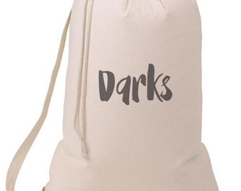 Grad Gift Darks Laundry Bag, Humorous Laundry Bag, College Hamper, College Student Gift- Graduation Gift- BEagle