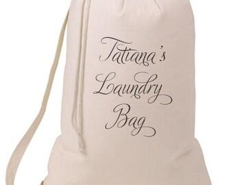 Grad Gift Personalized Laundry Bag Script, Humorous Laundry Bag, College Hamper, College Student- Graduation Gift- BEagle