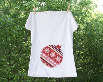 Maternity Christmas Ornament // Christmas Maternity Shirt