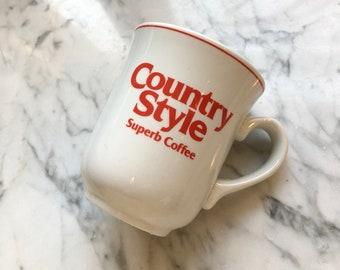 Vintage Steelite Country Style Donut Shop Coffee Mug Restaurantware Vitrified China