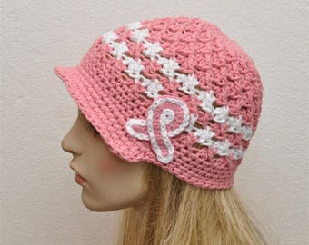 Crochet Cancer Hat Etsy