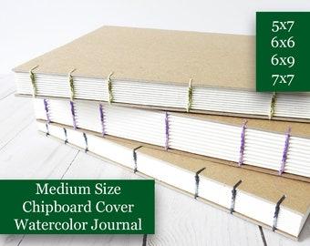 Medium Size Watercolor Sketchbook, Handmade Sketchbook, Gratitude Journal, Custom Sketchbook, Mixed Media Journal, Mindfulness Gift