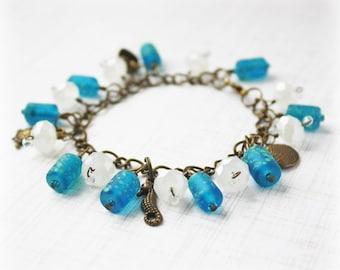 Blue Bracelet Beaded Bracelet Crystal Bracelet Jewelry Gift For Her Statement Jewelry Handmade Jewelry Statement Bracelet Elegant Bracelet