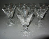 Waterford Ireland Irish Crystal 8 Water Glasses Cut in Colleen Claret Pattern