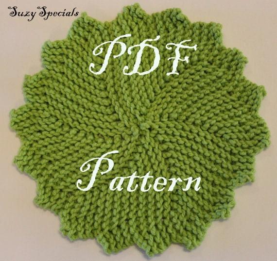 Knitted Round Washdish Cloth Pattern Pdf Pattern Etsy