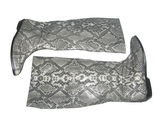 VTG Fabulous Golo Made In Italy Snake Print Faux L