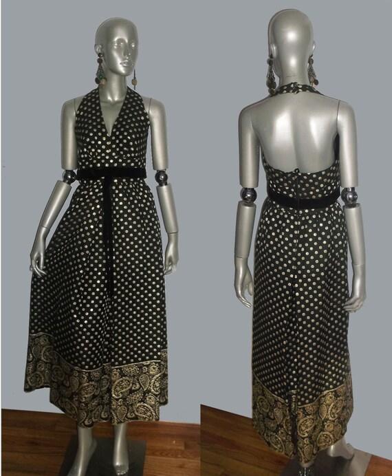 Vintage Stunning NWT Unworn Sue Saunders Black Met