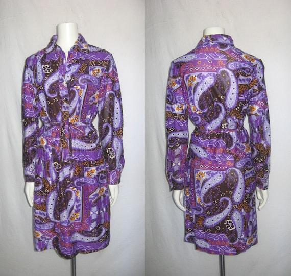 Vintage Gailord Mult-Color Psychedelic Paisley Pri
