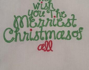 Merriest Christmas Towel