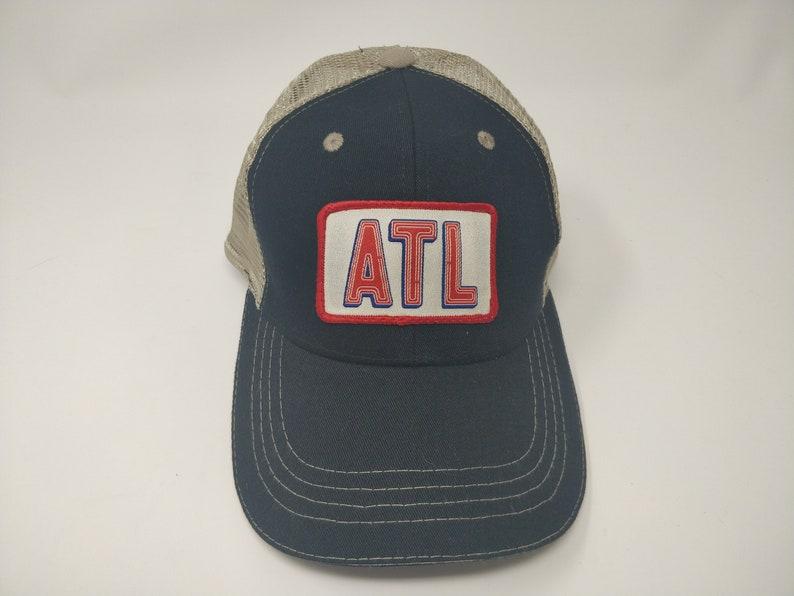 03bd7a42d SALE!!! Black ATL Neon Sign Style Trucker Hat, Atlanta, Georgia, Braves  Baseball