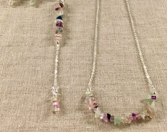 Mother's Day Fluorite Necklace, Bracelet, and Earrings set