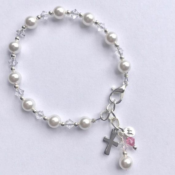 Première Communion Fille Cadeau Premier Cadeau De Communion Premier Bracelet De Communion Bracelet Chapelet Cadeaux De Communion Saule Et