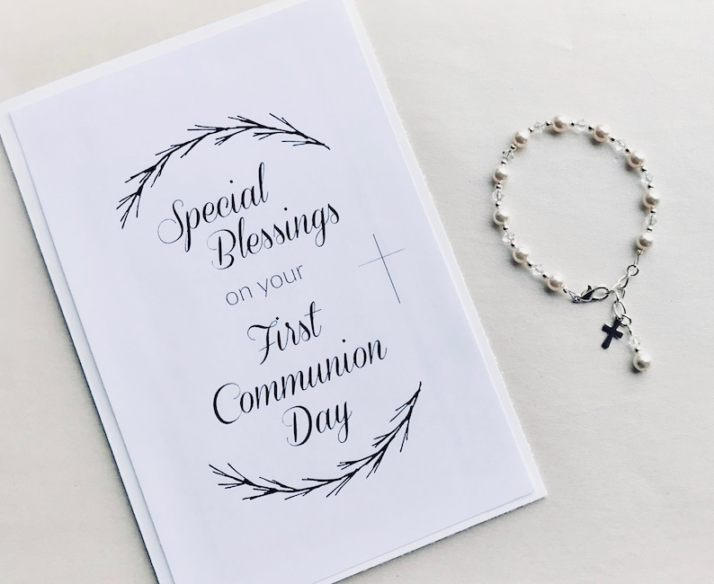 graphic about First Communion Cards Printable called Printable Do it yourself Card print at residence Initially Communion Card Spiritual card To start with Communion Card Woman Catholic Reward Boy