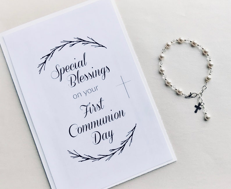 photograph relating to First Communion Cards Printable called Printable Do it yourself Card print at property To start with Communion Card Non secular card Initial Communion Card Lady Catholic Present Boy