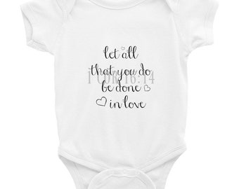 Infant Faith Onesie, faith baby onesie, baby shower gift, religious gift, mom and baby matching tshirt