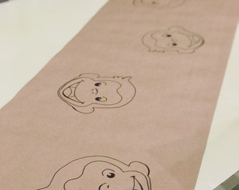 Curious George table runner