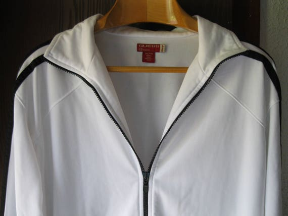 Vintage Men's Guess Track Jacket White Size 2XL Bl