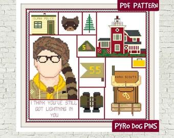 Lightning in You Cross Stitch Pattern - Moonrise Modern Cross Stitch Pattern Sampler - Instant Download PDF