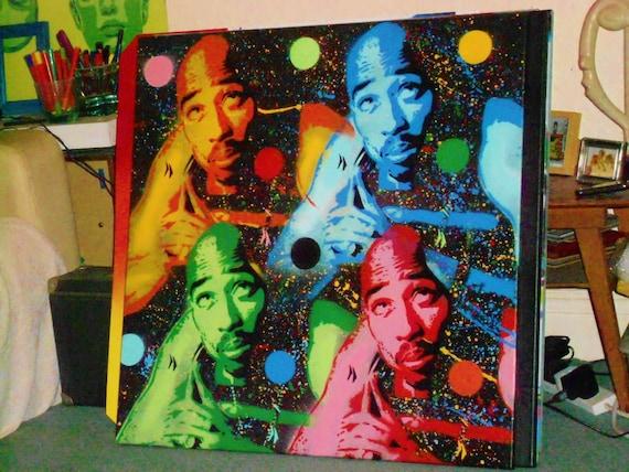 Tupac Shakur Painting 2pac Stencil Art Spray Paint Art 30