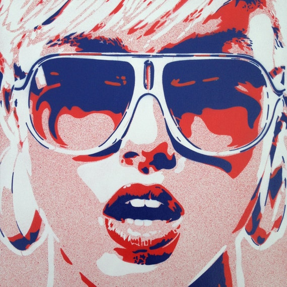 1 digital download pop art woman painting canvas stencil art etsy