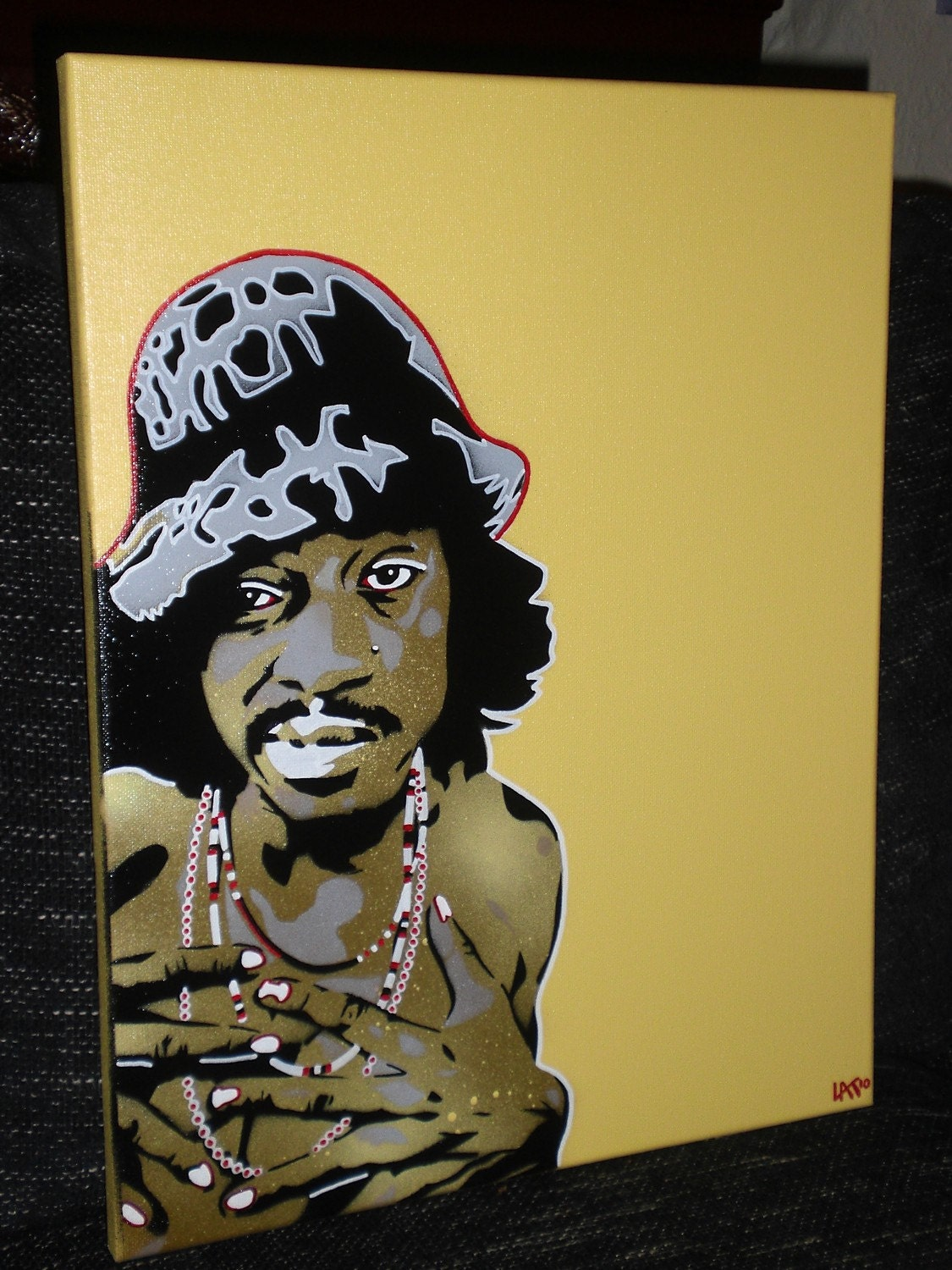 Andre 3000 painting stencil art spray paints canvas Outkast | Etsy
