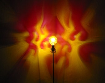 Flames Red Yellow Painted MoodLight Bulb 4 Holiday Party Gift for Him Fire  Night Light Dorm Decor Man Cave Sexy Bedroom Bar Parlor Lighting