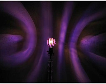 Purple Spiral Painted MoodLight Bulb/Haunted House/MoodLighting/Dorm Room/Birthday/Color Therapy/meditation/yoga studio/man cave/projection