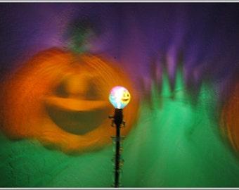 JackOLantern Pumpkin Painted MoodLight Bulb 4 Christmas Gift Night Lights Holiday Party Porch Light Halloween Accent Mood Lighting