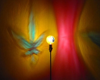 Marijuana Leaf Painted MoodLight Bulb /Rasta Night Light/Mood Lighting/Smoke Room/Man Cave/ Hemp Room/Pot head/420 gifts/420 friendly