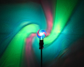 Green Blue Purple Spiral Painted MoodLight Bulb 4 Christmas Gift Holiday Party Night Lights Stocking Stuffer Accent Lighting Bedroom