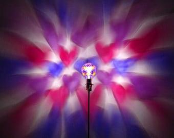 Pink Red Purple Hearts Painted MoodLight Bulb/Light Bulb/I love you/Girl Nursery/Night Light/Girl Room/Heart Lamp/Heart Bedroom/Heart Gifts