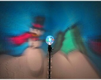 Frosty Snowman Painted MoodLight Bulb 4 CHRiSTMAS Lights Secret Santa Gift Night Porch Light Holiday Party Decoration Outdoor Lighting Decor