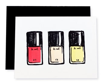 Le Nail Beauty Letterpress Card