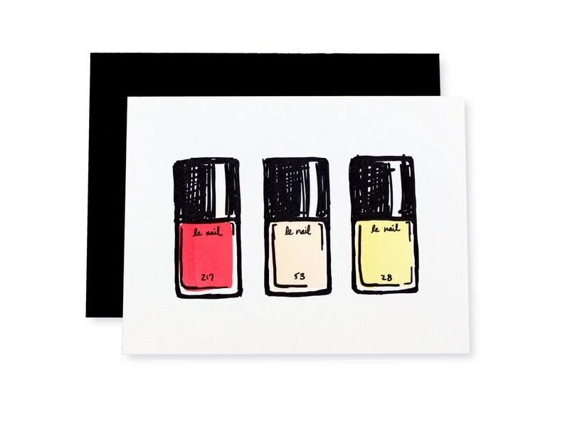 Le Nail Beauty Letterpress Card image 0