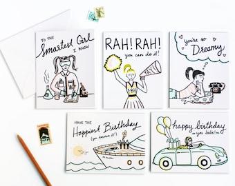 Vintage Style Letterpress Card Set of Nine