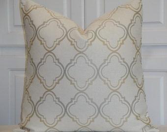 Decorative Pillow Cover Capri Blue Trellis Pillow Etsy