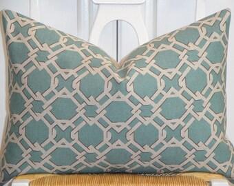 Decorative Pillow Cover Velvet Accent Trellis Lattice Etsy