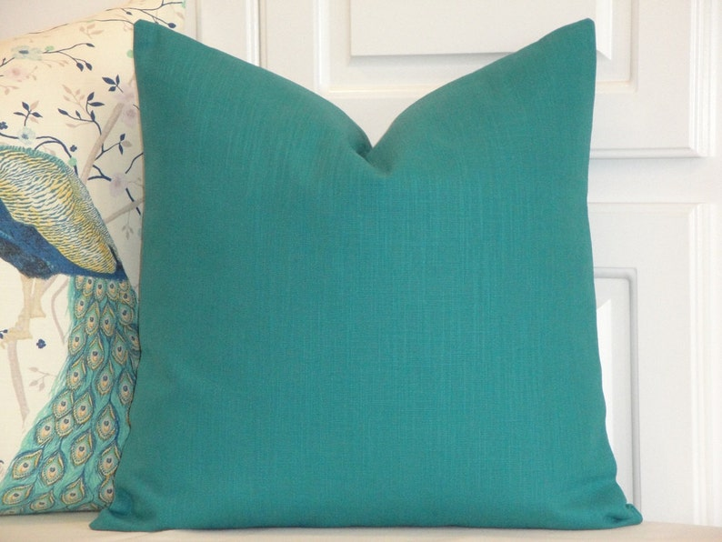 Fabulous Double Sided Decorative Pillow Cover Teal Accent Pillow Sofa Pillow Solid Color Pillow Chair Pillow Bed Pillow Bralicious Painted Fabric Chair Ideas Braliciousco
