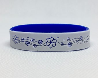 Flower Bracelet with Emergency Contact Phone Numbers, Child Emergency Bracelet, Customized ID Bracelet, ID Bracelets phone numbers